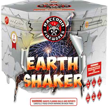 RA53605 Earth Shaker 500 Gram 7 Shots hexagon Cake