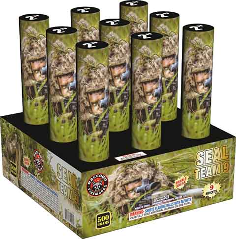 RA54502 Seal Team Double Break 500 Gram 2 Inch 9 Shots Cake