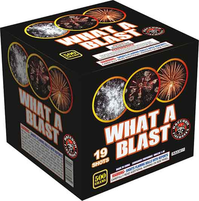 RA53611 WAHT A BLAST 500 Gram 19 Shots Rectangle Cake