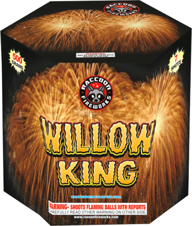 RA54401 Willow King 500 Gram 7 Shots Hexagon Cake